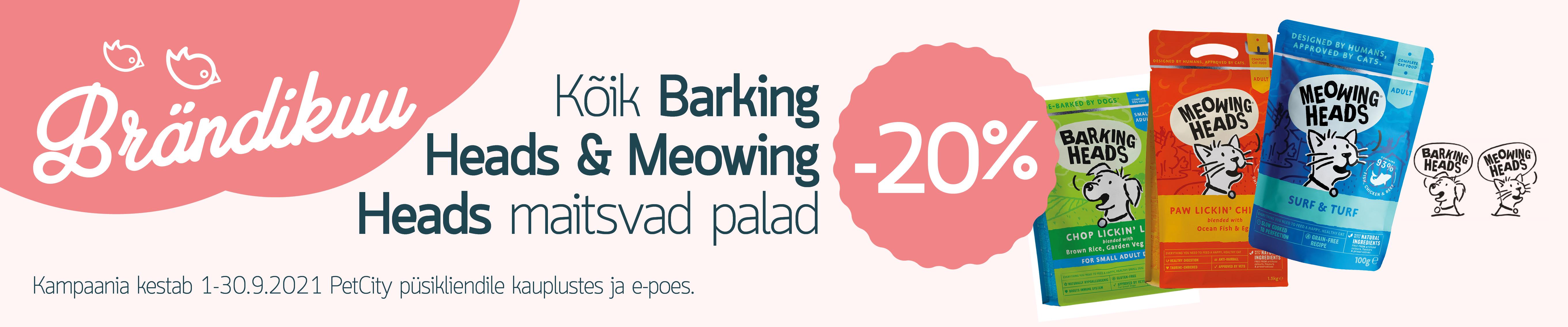 BARKING & MEOWING HEADS -20%