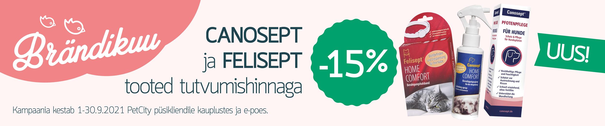CANOSEPT ja FELISEPT -15%