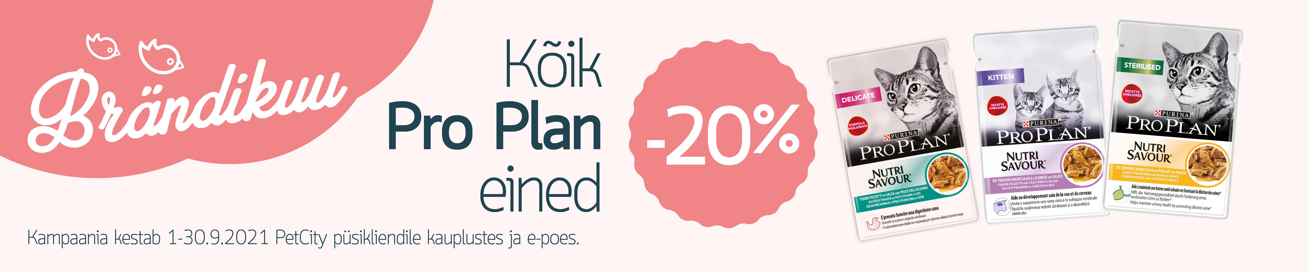 PRO PLAN kassieined -20%