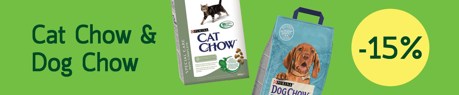 Cat Chow & Dog Chow -15%