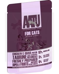 Aatu einekotike kassidele kana- ja vutilihaga 85 g
