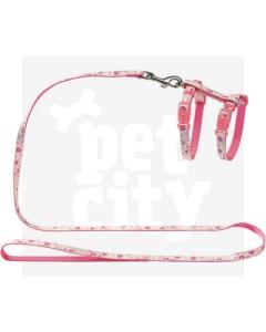Hunter Retro Flower nailonist traksid ja jalutusrihm, roosa
