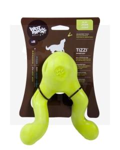 Zogoflex Tizzi kummist mänguasi koertele S, 12 cm roheline
