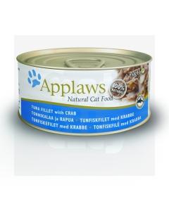 Applaws kassikonserv tuunikala ja krabiga, 70 g