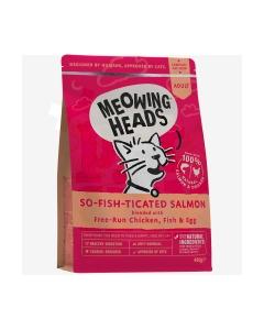 Meowing Heads So Fish Ticated kassitoit lõhega, 450 g