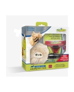 Furminator Furflex kinkepakk koer L kammiotsik+käepide+mänguasi