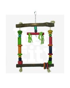 Beeztees lindude kiik papagoidele puidust 35x56cm